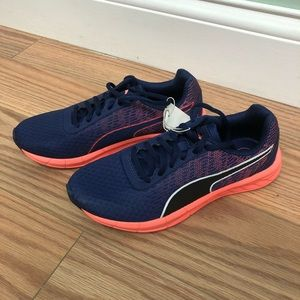 Puma Running Shoes: Blue & Coral (PM1082)